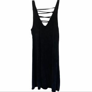 Bear Dance Black Front and Back Strap Dress Small